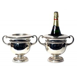 A Pair of Regency Old Sheffield Plate Wine Coolers c.1815
