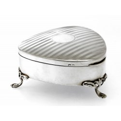 A Stylish Triangular Silver Jewellery Box c.1920