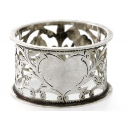 A Very Pretty Silver Napkin Ring 1904