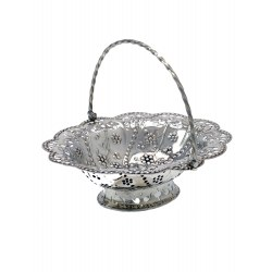 Victorian Copy of a George III Silver Oval Basket c.1887