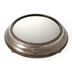 A Victorian Silver Plated Mirroe Plateau Cake Stand c.1870