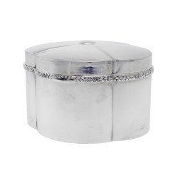 An Antique Austrian Plain Silver Lidded Box c.1900