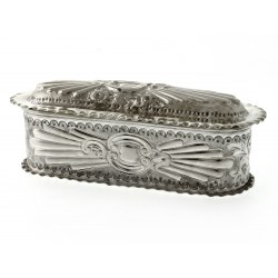 A Pretty Rectangular Silver Trinket Box c.1896