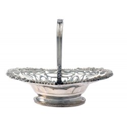 Attractive Large George III Oval Silver Basket