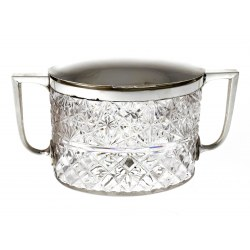 Quality Silver Plate & Cut Glass Biscuit Box c.1890