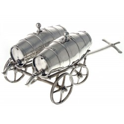Novelty Antique Victorian Silver Plated Double Spirit Barrel