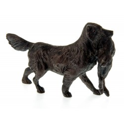 Bronze Retriever Gun Dog Carrying a Rabbit