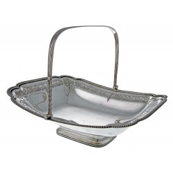 Peter and William Bateman Solid Silver Rectangular Basket