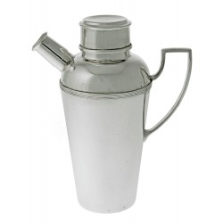 Plain Silver Plate Cocktail Shaker with Handle