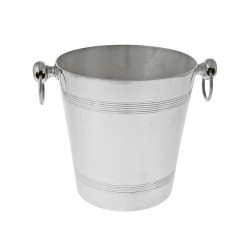 Silver Plated Cylidrical Plain Ice Bucket