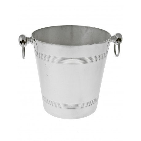 Silver Plated Cylidrical Plain Ice Bucket. Circa 1940