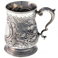 Quality Silver George II Half Pint Mug by Shaw and Priest
