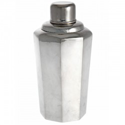 1930's Eight Sided Plain Silver Cocktail Shaker