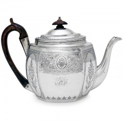 A George III Silver Tea Pot in Oval Form c.1801