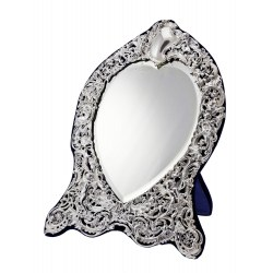 Edwardian Heart Shaped Mirror by William Comyns