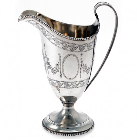 A Very Charming Copy of a George III Silver Cream Jug c.1930