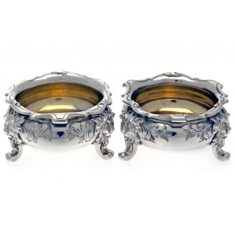 Pair of Fine Quality George Angell Silver Salts