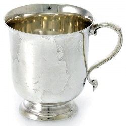 A Completely Plain Silver Christening Mug c.1911