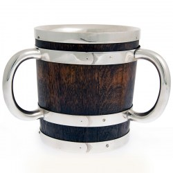 Oak and Silver Plate Loving Cup