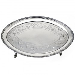 Peter & Ann Bateman Oval Silver Tea Pot Stand