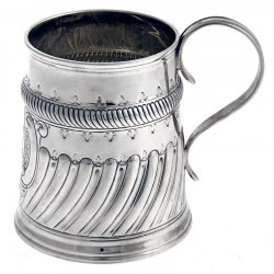 Edwardian Carrington and Co Silver Pint Mug