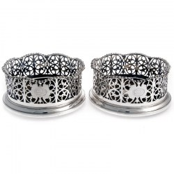 A Pair of Elkington & Co Silver Plated Coasters