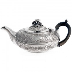 Silver George IV Compressed Circular Tea Pot