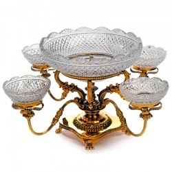 Late 19th Century Four Branch Epergne