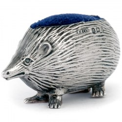 An Edwardian Silver Hedge Hog Pin Cushion