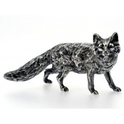 Figure of a Silver Standing Fox Salt