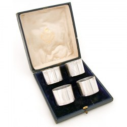Boxed Set of Four Silver Plate Napkin Rings. Circa 1920