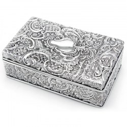 Ornate Antique Silver Plated Trinket Box. Gilbert & Spurrier Ltd c.1890