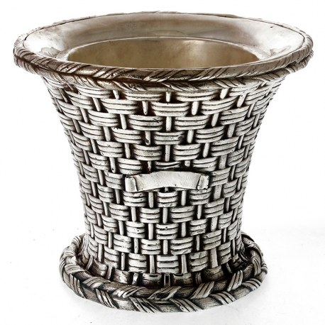 Decorative Elkington Style Cast Silver Plated Ice Bucket