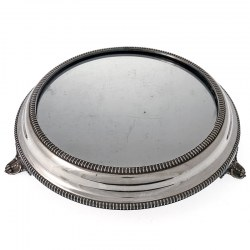 Victorian Silver Plated Mirror Plateau Cake Stand c.1880