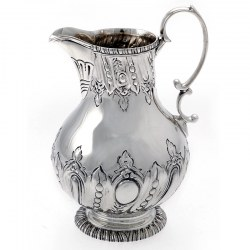 Silver Victorian Pear Shaped Cream Jug c.1887