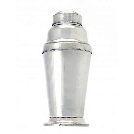 800 Grade Silver Cocktail Shaker c.1930