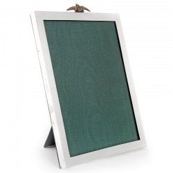 Plain Silver RFC Leather Backed Rectangular Photo Frame