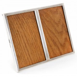 Silver Double Window Rectangular Photo Frame