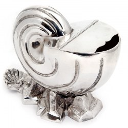 Victorian Silver Plated Nautilus Shell Spoon Warmer