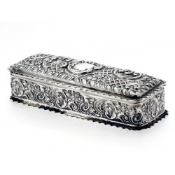 A Decorative Victorian Silver Jewellery Box c.1899
