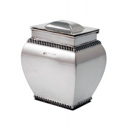 Quality Plain Silver Tea Caddy c.1918