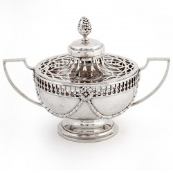 William Comyns Edwardian Silver Potpourri Bowl