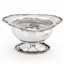 Small Edwardian Oval Silver Bowl (1909)