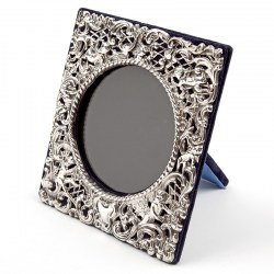 Edwardian Square Silver Frame Decorated with Cherubs and Scrolling Flowers