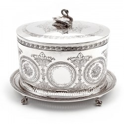 Victorian Henry Wilkinson Oval Silver Plated Biscuit Box