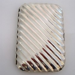 Silver Victorian Cigar Case with Spiral Form Body