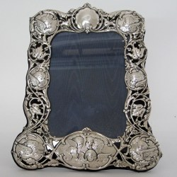 William Comyns Silver Photo Frame with Reynolds Angels