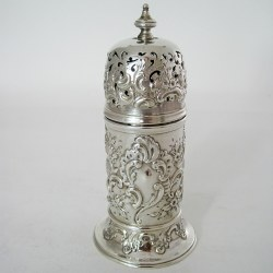 Decorative Victorian Lighthouse Shaped Silver Sugar Caster