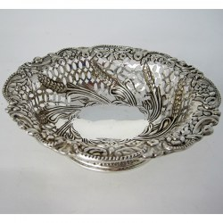Charming Oval Victorian Silver Dish (1890)
