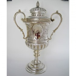 Impressive Late Victorian Campana Shaped Silver Trophy Cup (1899)